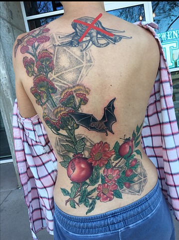 Pomegranate, Agave Plant Back piece