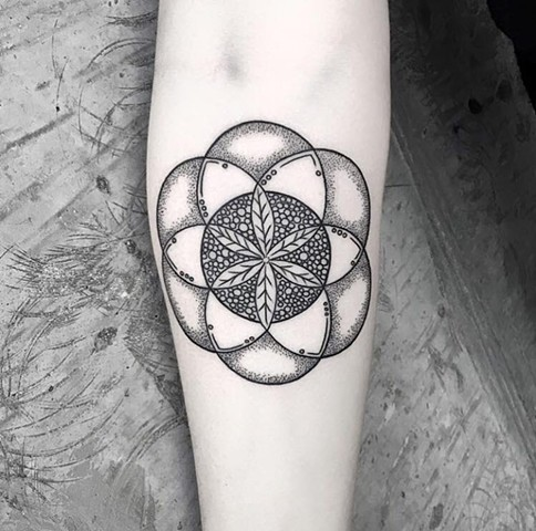 Mandala. Based from her sisters design.