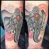 Elephant and mandalas
