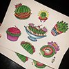 Cactus Food Flash! (Do not steal designs please. They are Copyright.)
