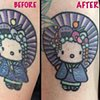 I rarely do re-works, but made an exception because it's Hello Kitty :)