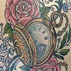 Pocket watch Floral
