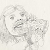 Self Portrait Eating Pizza