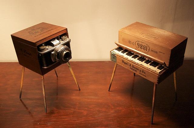Piano/Camera Monster Sculpture 3/4