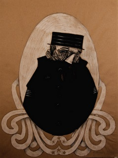 Ishmael tom keating cowardly sailor portrait butcher paper art
