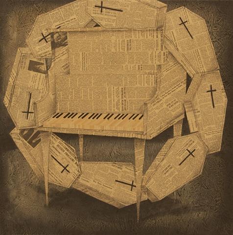 tom keating art haunting melody piano painting