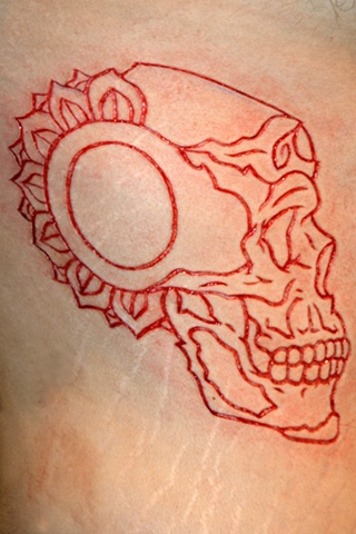 Tibetan skull cutting