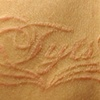 Healed lettering scarification