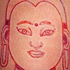 Buddha cutting, peeling and cross hatching