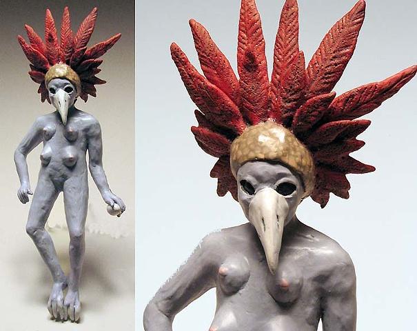 Bird Woman (wall piece).