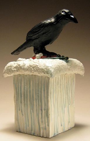 Crow Box (lidded vessel).