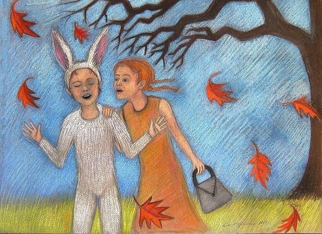 Children in Autumn.