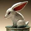 Rabbit box (lidded vessel).