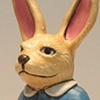 Clay rabbit with horn.
