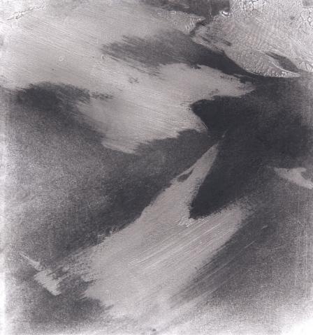 Pigeon Series Gesso Drawing #4