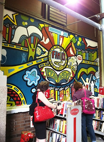 Strand Bookstore Mural:  Family Panel Process #9
