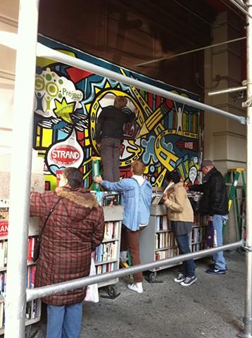 Strand Bookstore Mural: Literacy Panel Process #9