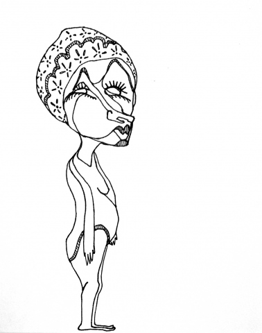 Flower Cap Lady