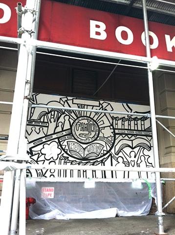 Strand Bookstore Mural:  Family Panel Process #2