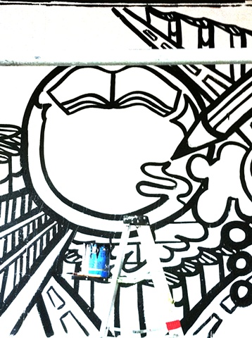 Strand Bookstore Mural:  Literacy Panel Process #1