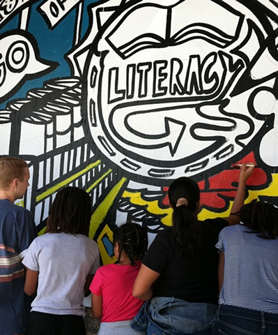 Strand Bookstore Mural:  Literacy Panel Process #4