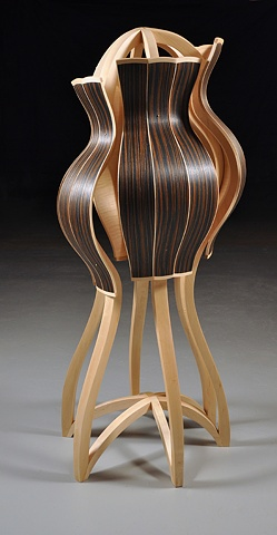 Sculpture inspired by dress forms and jackets