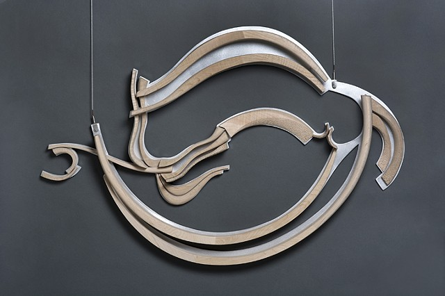 maps, wood, aluminum, sculpture