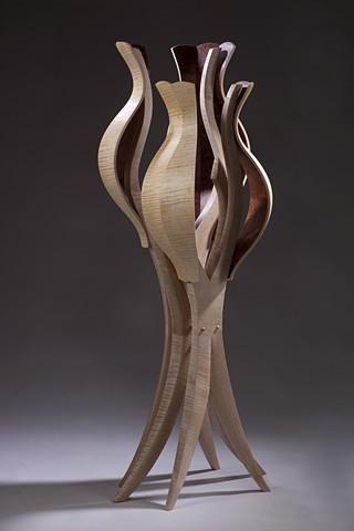 Untitled #1: Dress Form in Bubinga- Alternate View