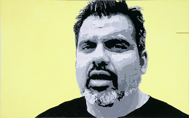 """Saucedo Acrylic on canvas 30"""" x 48"""" 2006  AVAILABLE"""