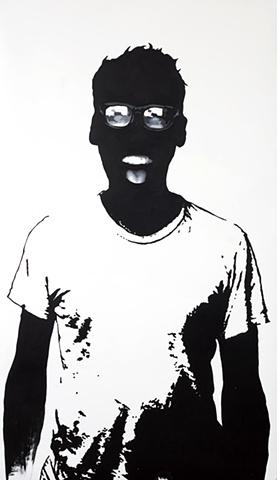 "Paul Acrylic on Yupo  35"" x 60"" 2009  SOLD"