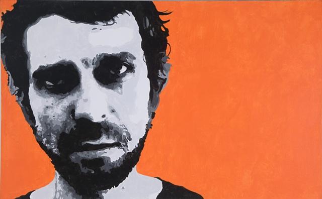 "Yevgeny Acrylic on canvas 30"" x 48"" 2006  SOLD"