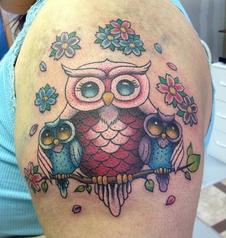 Black Widow Custom Tattoo Design Owl Family Tattoo