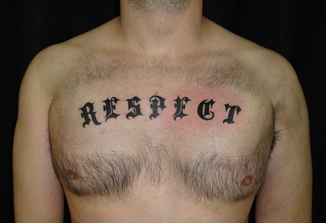 Black Widow Custom Tattoo amp Design Chestpiece RESPECT