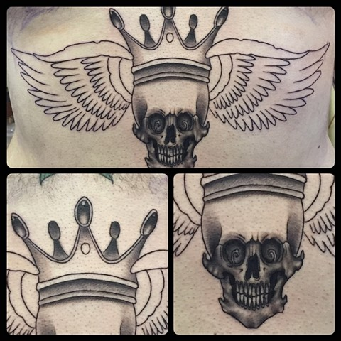 Skull, Crown & wings (first session)