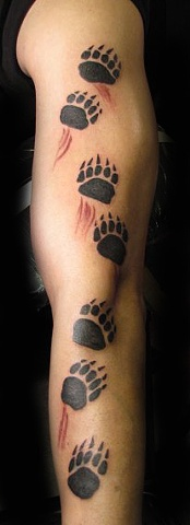polar bear tracks tattoo