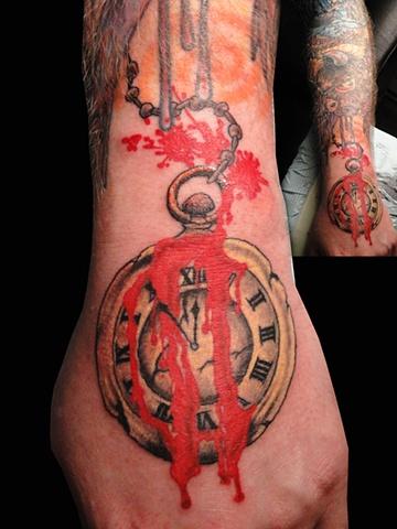 Doomsday Pocket watch tattoo