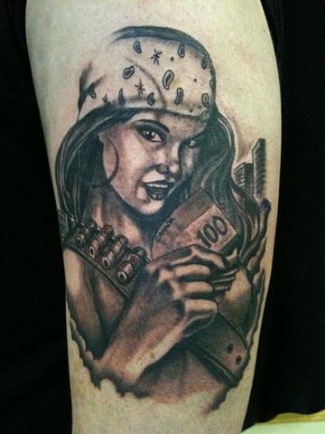 gangsta girls tattoos - photo #7