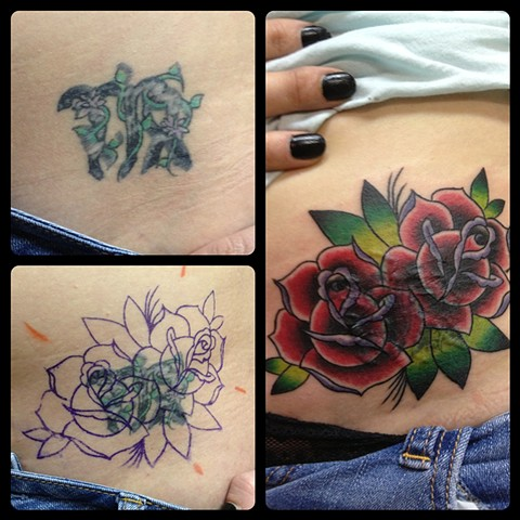 TRADITIONAL ROSE COVER-UP