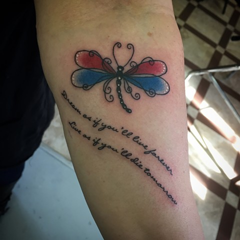 Butterfly & Quote