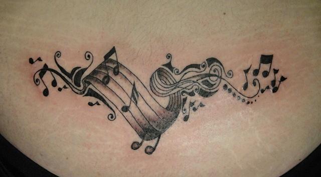 musical tramp stamp