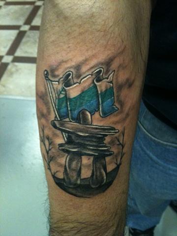 Inukshuk tattoo