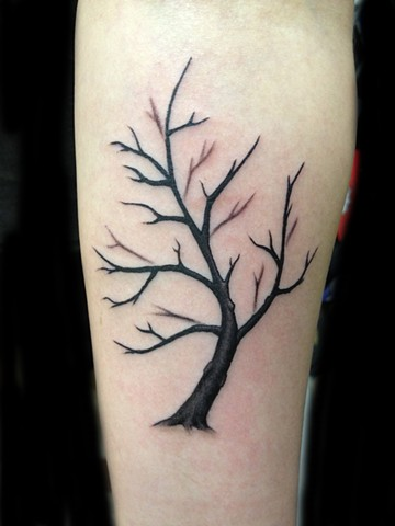 Naked tree tattoo