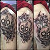NEOTRAD ABSTRACT SKULL/ROSES