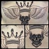 SKULL/WINGS STOMACH PIECE