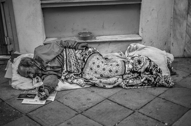 Homeless in Athens
