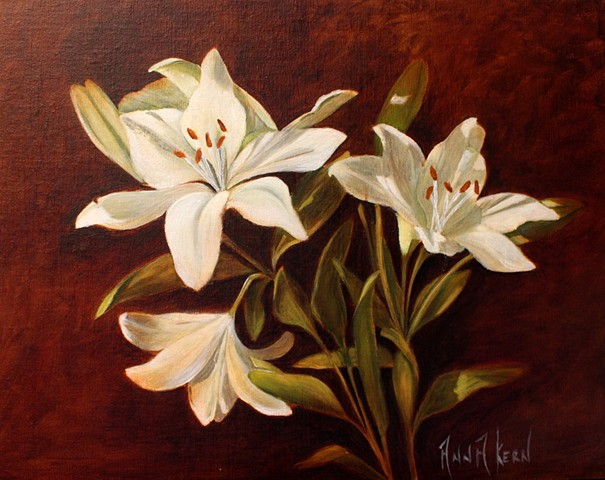 LILLIES IN OIL