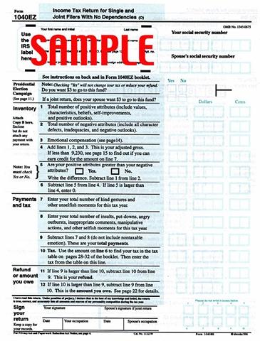 Tax Form: 1040EZ