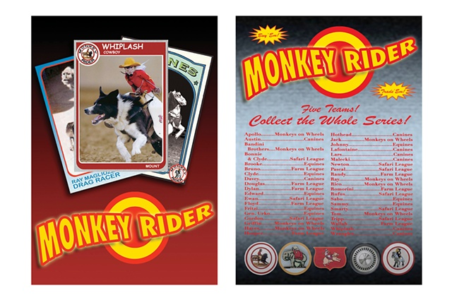 Monkey Rider poster, front and back