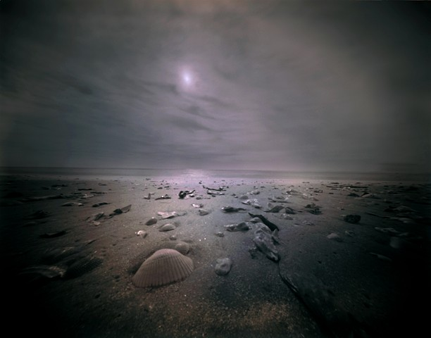 "Seascape 1, Pawleys Island, South Carolina 1987 pinhole photograph archival pigment print 13""x20"""