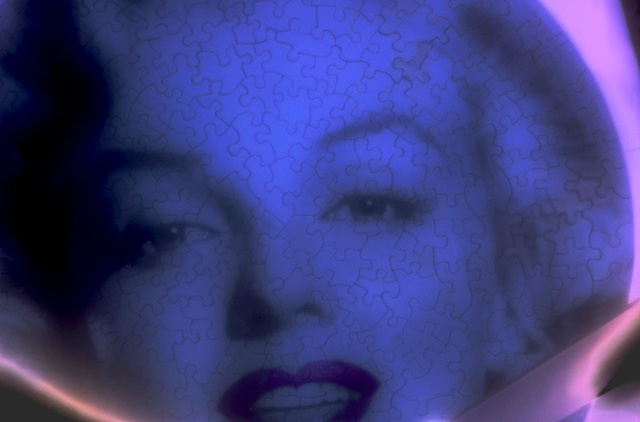 "Homage to Marilyn 2012 zone plate photograph archival pigment print 20""x13"""